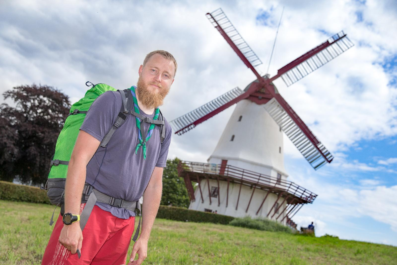 Henrik Hove Hornum has hitchhiked from Hammershøj to Kliplev, and then walked the last 40 km to Jamboree Denmark 2017.